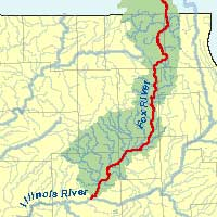 ILRDSS River Information - Map of illinois rivers
