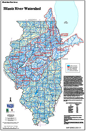 24 Illinois River Watershed - Poster: Poster-sized (26x38) map of the entire