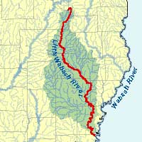 Wabash River Map ILRDSS   River Information